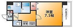 大阪府大阪市中央区和泉町2丁目の賃貸マンションの間取り