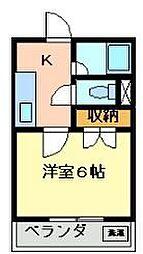 栃木県宇都宮市江曽島本町の賃貸マンションの間取り