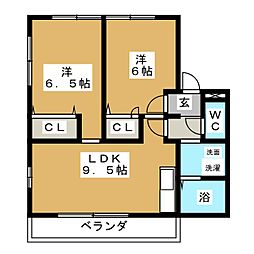 デンファーレ[1階]の間取り