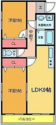 D−ハウス6[3階]の間取り