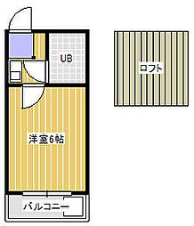 メゾンドポム[2階]の間取り