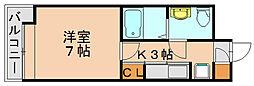 エステートモア博多駅南[3階]の間取り