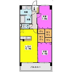 福岡県福岡市西区下山門2丁目の賃貸マンションの間取り