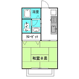 茨城県神栖市木崎の賃貸アパートの間取り