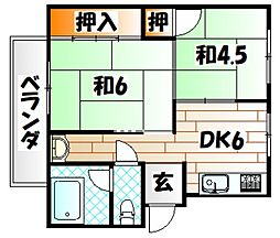 GLORIA TAKADA[4階]の間取り