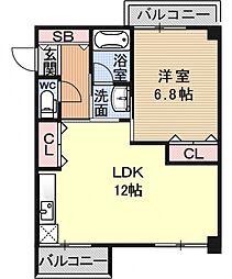 LATTICE東野(ラティス)[702号室号室]の間取り