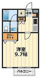 神奈川県大和市西鶴間1丁目の賃貸アパートの間取り
