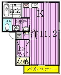 千葉県流山市野々下3の賃貸アパートの間取り
