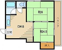ハイツA2[3階]の間取り