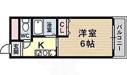 コートハウス中野 3階1Kの間取り