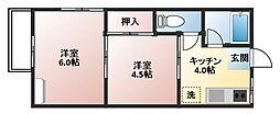 幸荘[27号室]の間取り