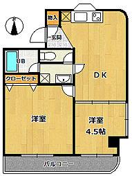 ベルカンポ宝津[2階]の間取り
