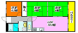 メゾンドール・水野 107号室[1階]の間取り
