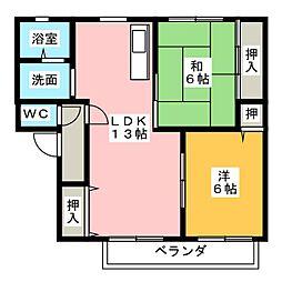 二瀬川ノーバA[2階]の間取り