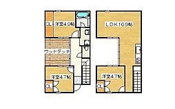 [テラスハウス] 福岡県太宰府市通古賀5丁目 の賃貸【/】の間取り
