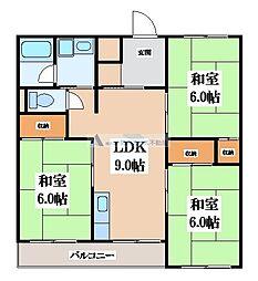 グロースハイツ吉田下島[3階]の間取り
