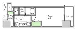 Osaka Metro堺筋線 堺筋本町駅 徒歩5分の賃貸マンション 10階1Kの間取り