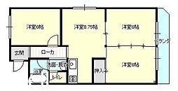 広島県広島市佐伯区三筋3丁目の賃貸アパートの間取り