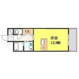 熊本県熊本市中央区西子飼町の賃貸マンションの間取り
