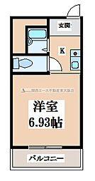 シャトーユキ[3階]の間取り
