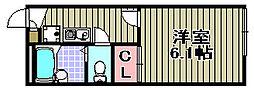 レオパレス芳山荘2[202号室]の間取り