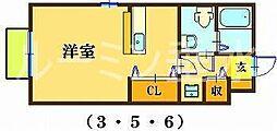 アルコバレーノ3[2階]の間取り