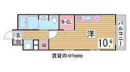 兵庫県神戸市中央区雲井通3丁目の賃貸マンションの間取り