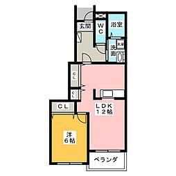 ビスタマールI・II・III[1階]の間取り