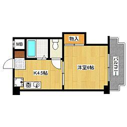 ハイツキタヨシ[2階]の間取り