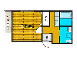信栄ビル[3階]の間取り