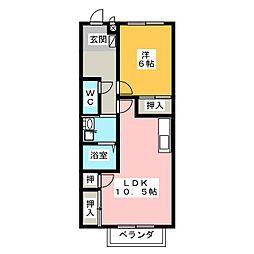 プリマパーク・K[2階]の間取り