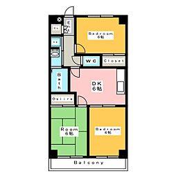 ロイヤル桜コーポラス[5階]の間取り