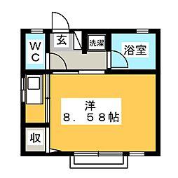 笹沢ハイツ[2階]の間取り