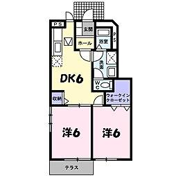 兵庫県篠山市西新町の賃貸アパートの間取り