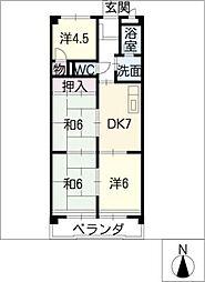 横吹小菅ビル[2階]の間取り