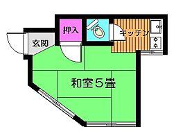 フラワーハウスA[1階]の間取り
