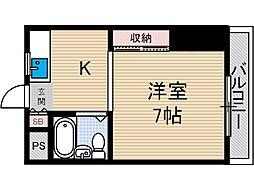 三和第33マンション[1階]の間取り