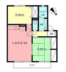 ボナールハウス1[1階]の間取り