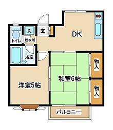 東京都府中市西府町5丁目の賃貸アパートの間取り
