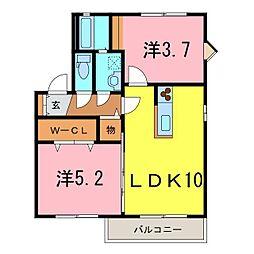 サニーハウスA[2階]の間取り