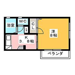 ハウス一条今泉[2階]の間取り