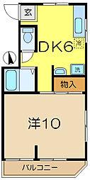 MK平和台ハイツ[2階]の間取り