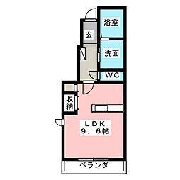 プリムヴェール B[1階]の間取り