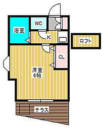 ジュネパレス松戸第21[1階]の間取り