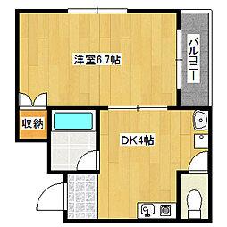 兵庫県神戸市垂水区陸ノ町の賃貸アパートの間取り