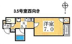 クレシア日本橋[703号室号室]の間取り