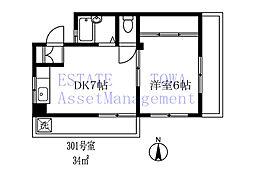 127402 茂木マンション[301号室]の間取り