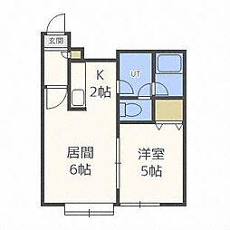 グランディア菊水I[1階]の間取り