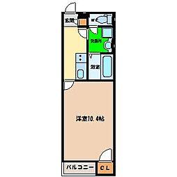 クレイノHIKARI[1階]の間取り