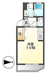マンションリバエイト[2階]の間取り
